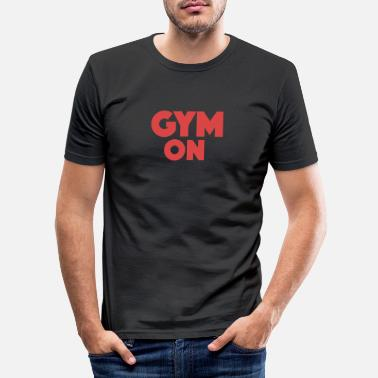 Work Out Funny Fitness Workout Pun Apparel - Men's Slim Fit T-Shirt