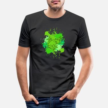 Amphibian Frog amphibian - Men's Slim Fit T-Shirt
