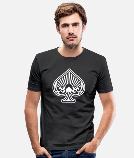Pique T-shirts - As Piques Cartes Poker - T-shirt moulant Homme noir