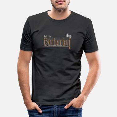 Würfel Barbar Barbarian Klasse Pen and Paper DnD Tabletop - Männer Slim Fit T-Shirt