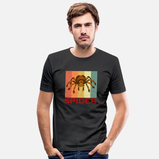 Spinne T-shirts - Spider Arachnid Tarantula Spooky Halloween - Slim fit T-shirt mænd sort