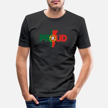 Portugal proud portugal - Männer Slim Fit T-Shirt