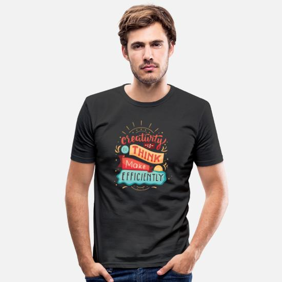 Gift Idea T-Shirts - creative thinking - Men's Slim Fit T-Shirt black