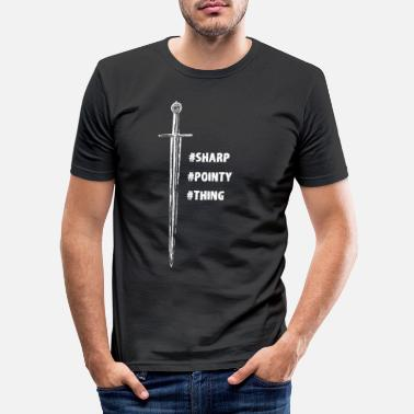 Pointy Sharp and Pointy - Men's Slim Fit T-Shirt