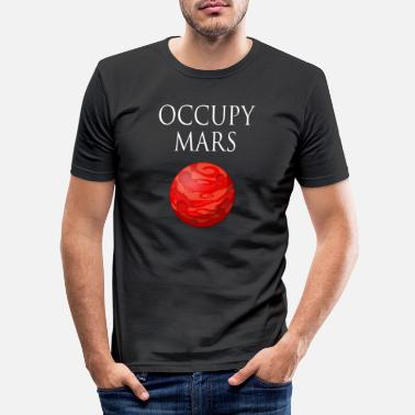 Occupy Occupy Mars Space - T-shirt slim fit herr