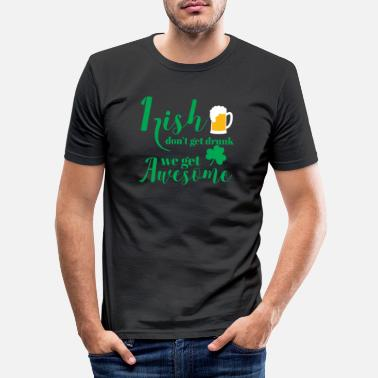 St St Patricks Day - Irish - Beer - Funny - Gift - Men's Slim Fit T-Shirt
