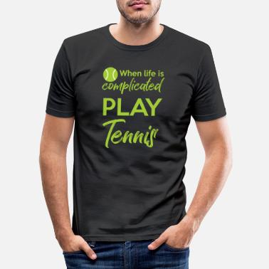 Tennis Is Life Tennis - Life - Tennis Ball - T-shirt Tennis - Mannen slim fit T-shirt