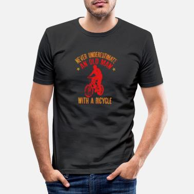 Man Never Underestimate An Old Man With A Bicycle Gift - Men's Slim Fit T-Shirt