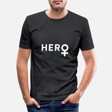 Female Hero Female hero - Men's Slim Fit T-Shirt