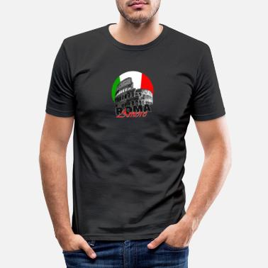 Traditie Roma Roma flag Italy - Mannen slim fit T-shirt