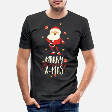 Merry flossing x mas - Männer Slim Fit T-Shirt