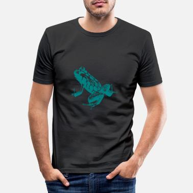 Amphibian Poison Arrow Frog, Animal, Silhouette, Bouncing, image - Men's Slim Fit T-Shirt