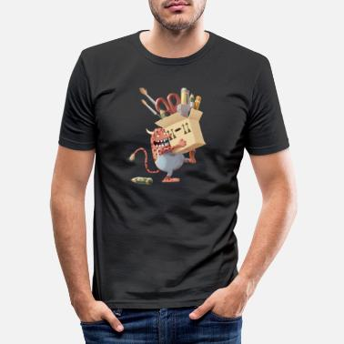 Comic Desktopmonster - Men's Slim Fit T-Shirt