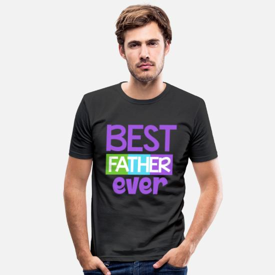 Father's Day T-Shirts - Family Tree Kinship Ancestry Household Love - Men's Slim Fit T-Shirt black