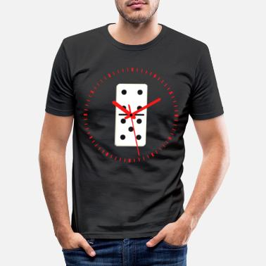 Tillfälle Domino Time Dominoes Tiles Puzzler Spelgåva - T-shirt slim fit herr