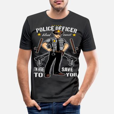 Policeman Policeman Police Policeman Policewoman Occupation - Men's Slim Fit T-Shirt