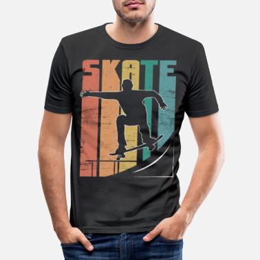 Wereld Skateboard Pipe Sun Crew Ollie Cool Road - Mannen slim fit T-shirt