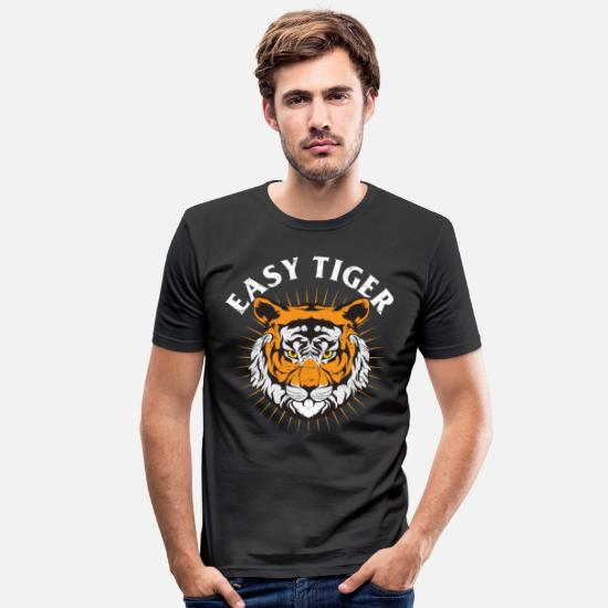Lover T-Shirts - tiger - Men's Slim Fit T-Shirt black