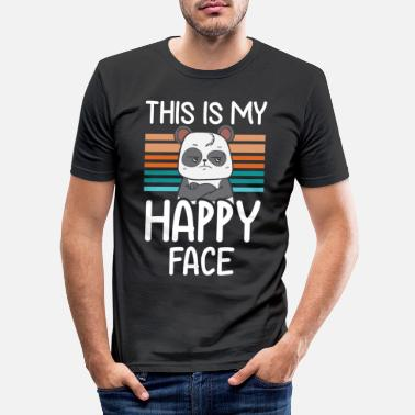 Sarkasmus This is my Happy Face - Männer Slim Fit T-Shirt