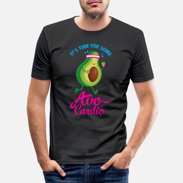 Collections It\'s Time For Some Avo Cardio - Miesten slim fit t-paita