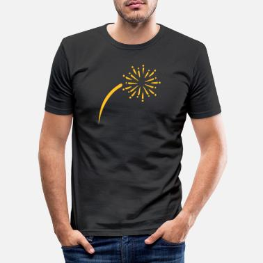 Feux Dartifice Feu d'artifice - T-shirt moulant Homme