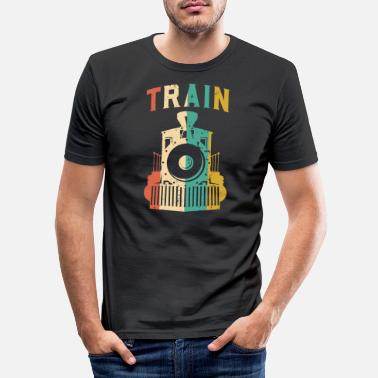 Trains Train - Men's Slim Fit T-Shirt