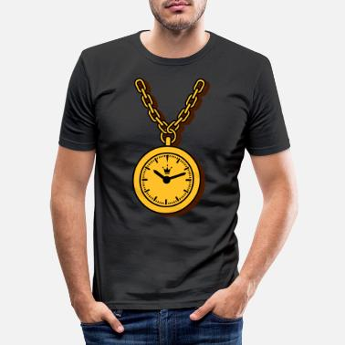 Clock clock chain - Männer Slim Fit T-Shirt