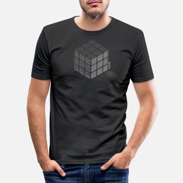 Cube Rubik's Cube Stippling Dotted Cube - Men's Slim Fit T-Shirt