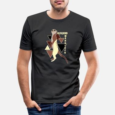 Animal Planet Animal Planet Nerdmännchen Erdmännchen Nerd - Men's Slim Fit T-Shirt
