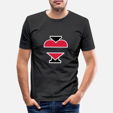 I Love I Love - T-shirt slim fit herr