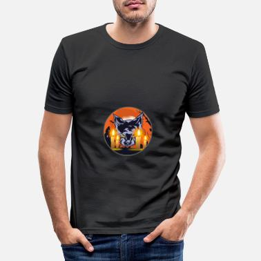 Undead Mens Witching Hour Graphic Cat - Männer Slim Fit T-Shirt
