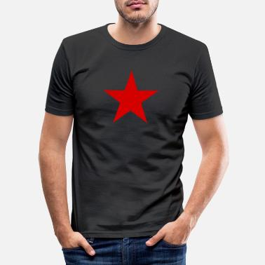 Red Star red, red star - Men's Slim Fit T-Shirt