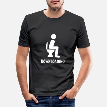 Download DOWNLOADING - Men's Slim Fit T-Shirt