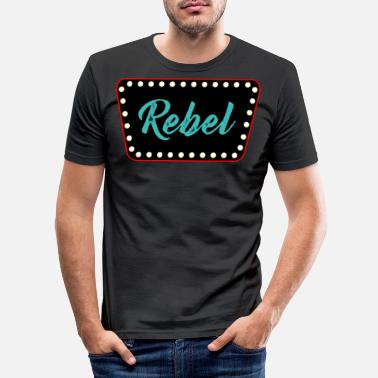 Rockabilly rockabilly - Mannen slim fit T-shirt
