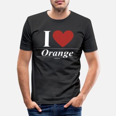 Kalifornien Orange Kalifornien Kalifornien Kalifornien - T-shirt slim fit herr