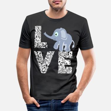 Baby Elephants Love Mammals Gifts - Men's Slim Fit T-Shirt