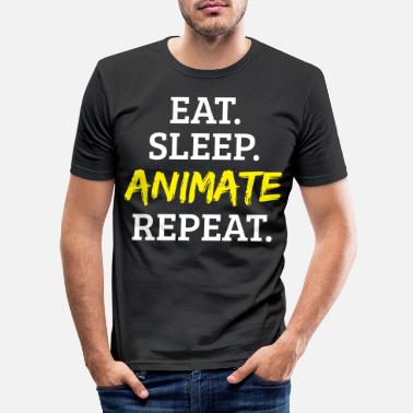 Animals Animal Animation animate - Men's Slim Fit T-Shirt