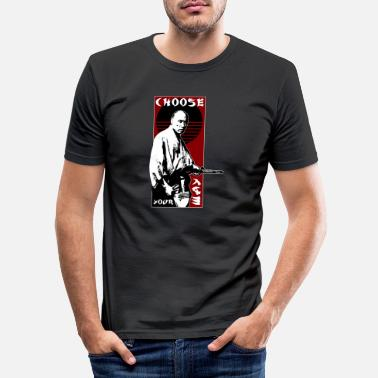 CHOOSE YOUR WAY - SAMURAI - Männer Slim Fit T-Shirt
