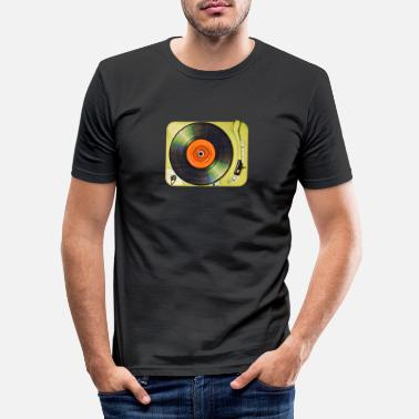 Record Turntable - Men's Slim Fit T-Shirt