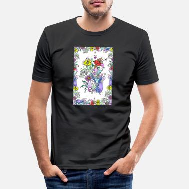 Atmosphere Colorful flowers - Men's Slim Fit T-Shirt