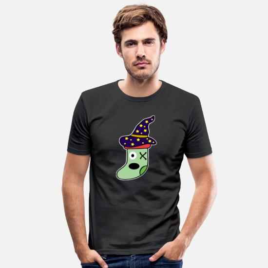 Witches Broom T-Shirts - monster - Men's Slim Fit T-Shirt black