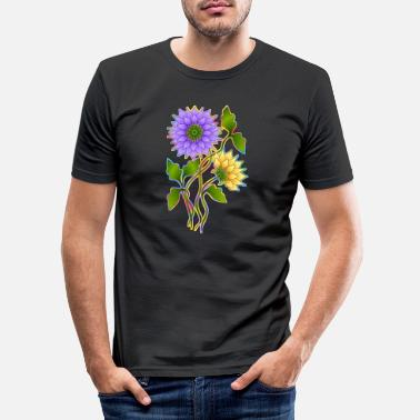 Rose Flowers - Men's Slim Fit T-Shirt