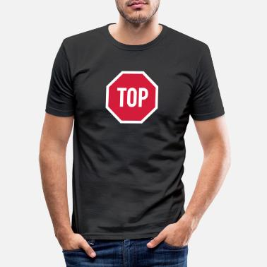 TOP sign - Men's Slim Fit T-Shirt