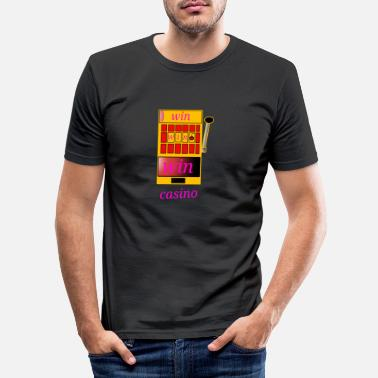 Casino casino win casinos - T-shirt moulant Homme