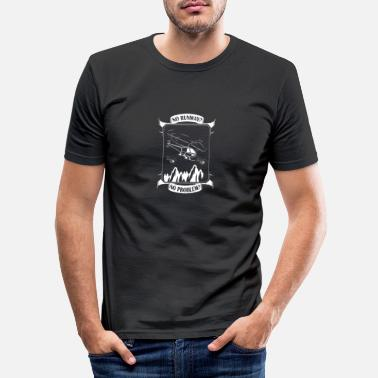 Hélicoptère Hélicoptère hélicoptère hélicoptère vol hélicoptère pilote - T-shirt moulant Homme