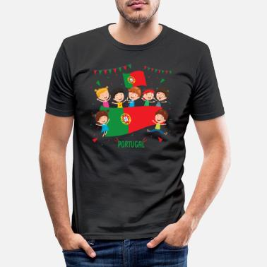 Portugal Portugal - Mannen slim fit T-shirt