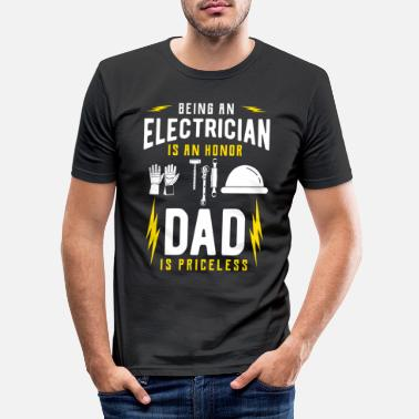 Électricien Électricien électricien - T-shirt moulant Homme