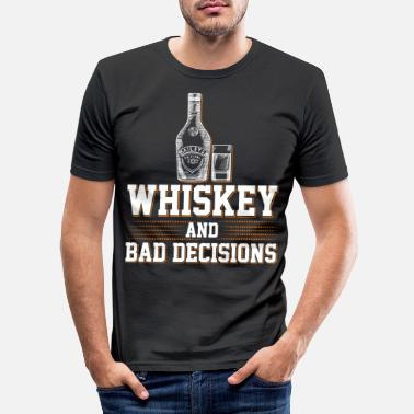 Whiskey Whiskey Whiskey Scotch Single Malt Bourbon Gift - Men's Slim Fit T-Shirt
