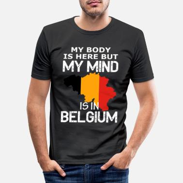 Country belgium country and countries - Men's Slim Fit T-Shirt