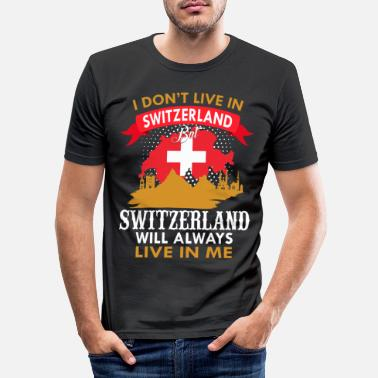 Country Switzerland Country and countries - Men's Slim Fit T-Shirt